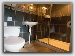 Bathroom with deluxe shower